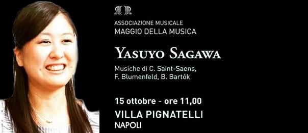 Yasuyo Sagawa a Villa Pignatelli a Napoli