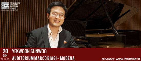 Yekwoon Sunwoo all'Auditorium Marco Biagi di Modena