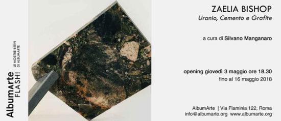 Zaelia Bishop | Uranio, Cemento e Grafite ad AlbumArte a Roma