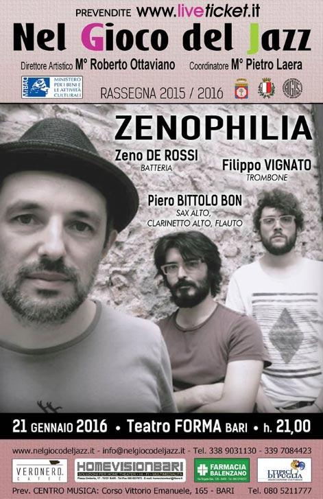 Zenophilia al Teatro Forma di Bari