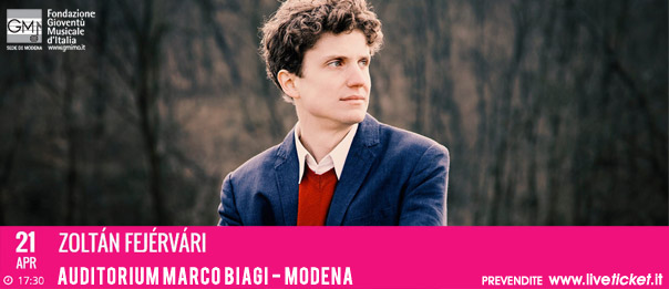 Zoltán Fejérvári all'Auditorium Marco Biagi di Modena