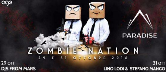 Zombie Nation Halloween Marathon al Paradise Bissò a Montereale